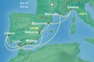 2019年四月份地中海郵輪推薦 含稅只要台幣兩萬暢遊地中海